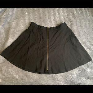 TOPSHOP front zip mini skirt